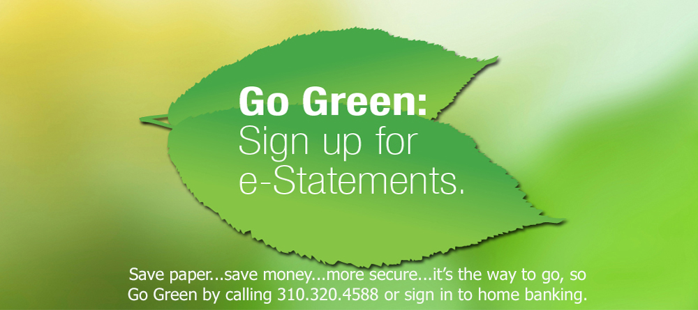 Sign up for e-statements